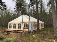 Корпоративный шатер на Ладожском озере
