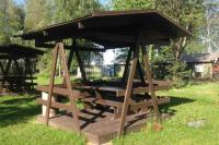 Беседка для пикника у Ладожского озера